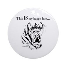 Dogue Happy Face Ornament (Round)