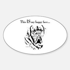 Dogue Happy Face Oval Decal