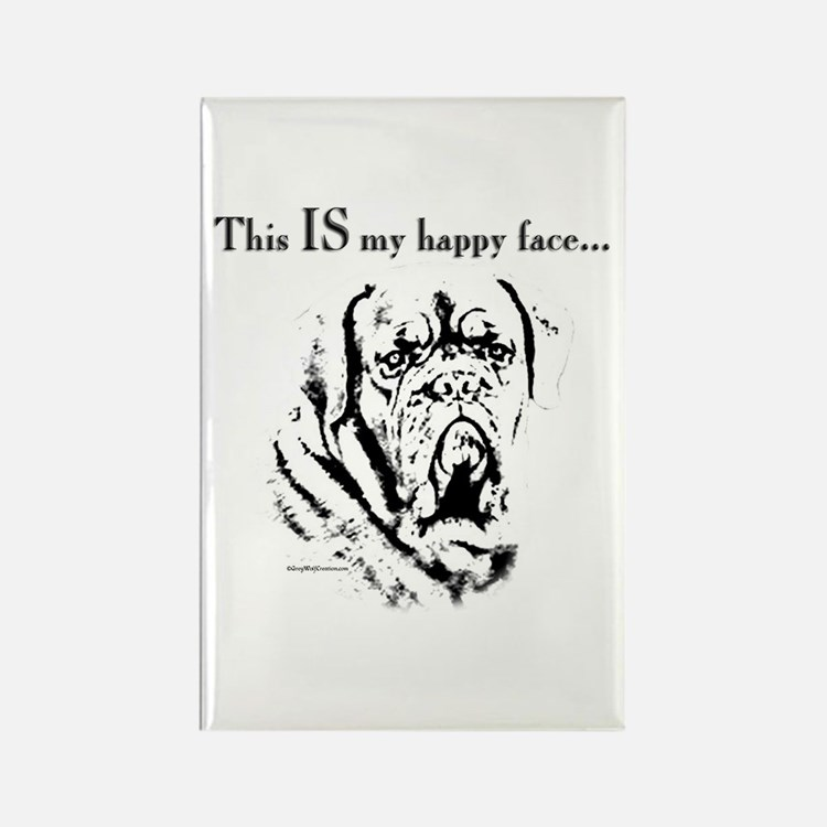 Dogue Happy Face Rectangle Magnet