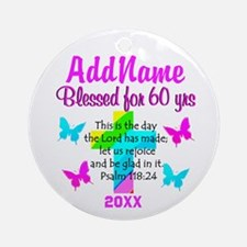 60TH BIRTHDAY Ornament (Round)