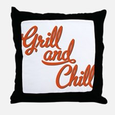 Grill and Chill Throw Pillow