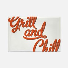 Grill and Chill Rectangle Magnet