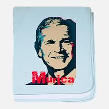 George Bush Murica baby blanket