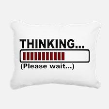 thinking,please wait.png Rectangular Canvas Pillow
