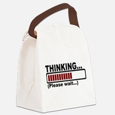 thinking,please wait.png Canvas Lunch Bag
