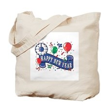 Happy New Year Confetti Design Tote Bag