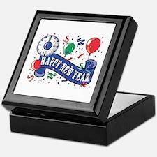 Happy New Year Confetti Design Keepsake Box