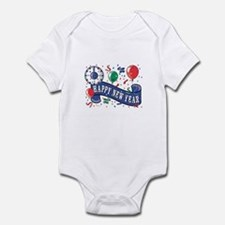 Happy New Year Confetti Design Infant Bodysuit