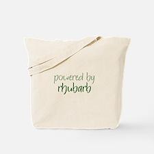 Powered By rhubarb Tote Bag