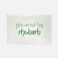 Powered By rhubarb Rectangle Magnet