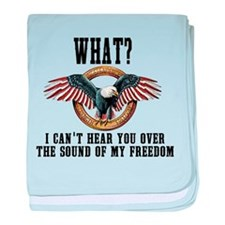 Sound of Freedom baby blanket