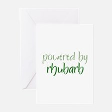 Powered By rhubarb Greeting Cards (Pk of 10)