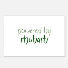 Powered By rhubarb Postcards (Package of 8)