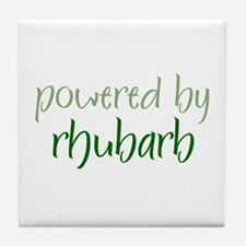 Powered By rhubarb Tile Coaster