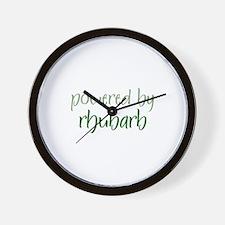 Powered By rhubarb Wall Clock