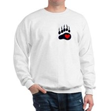 Leather Bear Paw Sweatshirt