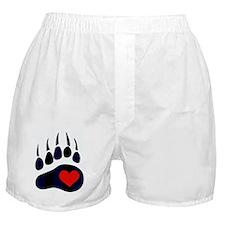 Leather Bear Paw Boxer Shorts
