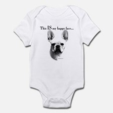 Frenchie Happy Face Infant Bodysuit