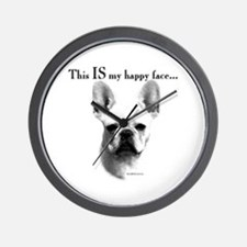 Frenchie Happy Face Wall Clock