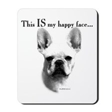 Frenchie Happy Face Mousepad