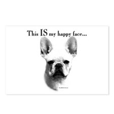 Frenchie Happy Face Postcards (Package of 8)