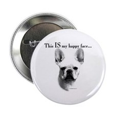 Frenchie Happy Face Button