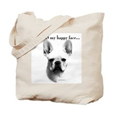 Frenchie Happy Face Tote Bag