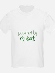 Powered By rhubarb Kids T-Shirt