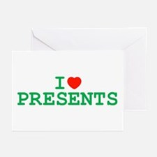 I Heart Presents Greeting Cards (Pk of 10)