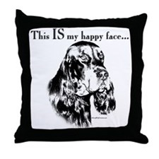 Gordon Happy Face Throw Pillow