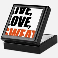 Live love sweat Keepsake Box