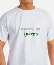 Powered By rhubarb Ash Grey T-Shirt
