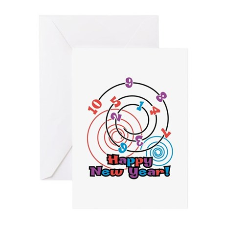 Happy New Year Swirl Greeting Cards (Pk of 10)