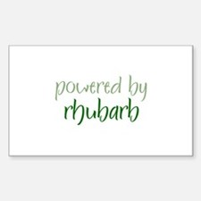 Powered By rhubarb Rectangle Decal