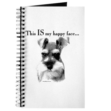 Schnauzer Happy Face Journal