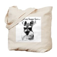 Schnauzer Happy Face Tote Bag