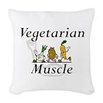 TOP Vegetarian Muscle Woven Throw Pillow