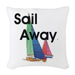 TOP Sail Away Woven Throw Pillow