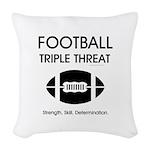 TOP Football Slogan Woven Throw Pillow