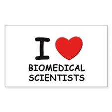 I love biomedical scientists Rectangle Decal