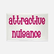 Attractive Nuisance (Pink) Rectangle Magnet