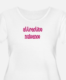 Attractive Nuisance (Pink) Plus Size T-Shirt