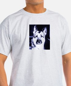 German Shepard Dog Black and White T-Shirt
