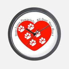 Dogs Leave Pawprints All Over Wall Clock