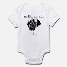 Mastiff Happy Face Infant Bodysuit