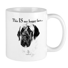 Mastiff Happy Face Mug