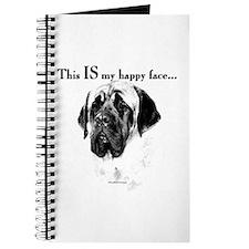 Mastiff Happy Face Journal