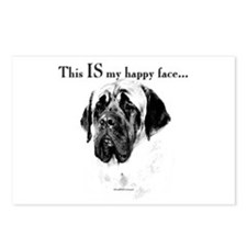 Mastiff Happy Face Postcards (Package of 8)