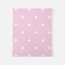 'Vintage Pink' Throw Blanket