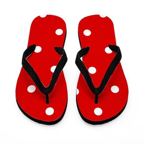 'Cherry Red' Flip Flops